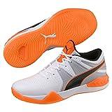 Puma Explode 1, Chaussures de Handball Homme, Blanc White-Quarry-Shocking Orange 2, 42.5 EU