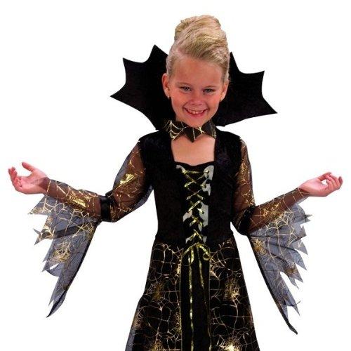 7-9 Jahre Kinderkostüm Spinnenlady Mädchen Halloween Kostüm Dracula ArtNr (Kostüm Spinderella)
