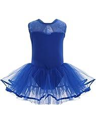 Freebily Vestido Maillot de Danza Ballet Tutú para Niña (3-14 Años) Vestido de Princesa Fiesta Actuación