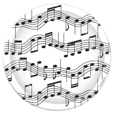 Musical Note 9ft Plates - Note Musicali Centrotavola