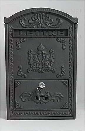 Antic Line - Boite aux lettres fonte Grand modele vertical - brun - 10cm