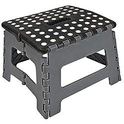 ASAB Folding Step Stool, Plastic, Small - 150 Kg Capacity  Multi color