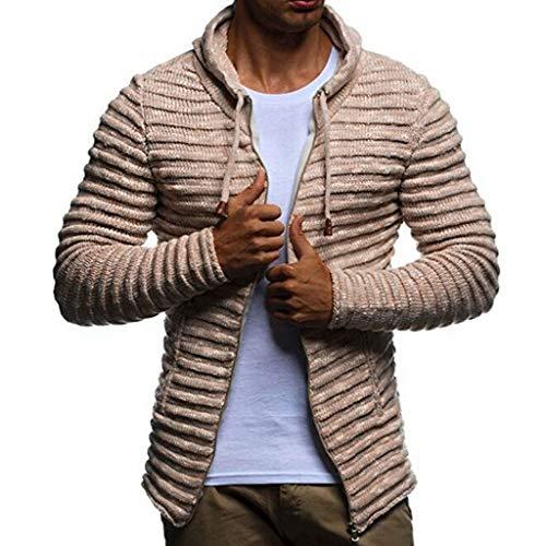 Maglione uomo cappotto inverno maglieria maniche lunghe felpa con cappuccio cerniera hoodie distintivo sweatshirt camicetta dolcevita classico tops qinsling