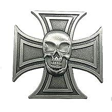 Insignia cruz de malta y cabeza de calavera