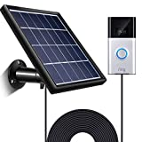 Solar Panel for Ring Video Doorbell 1/2, Waterproof Charge Continuously, 5 V/ 3.5 W (Max) Output, Includes Secure Wall Mount, 3.6 M/12 ft Power Cable (for Doorbell 1)