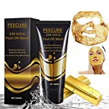 #6: Peecure Golden Peel Off Mask like Activated Charcoal Peel Off Black Face Mask contains Vitamin E,Lavender,Eucalyptus & Jojoba oil with Glow For Men & Women 100gms (PACK OF 1, GOLDEN)