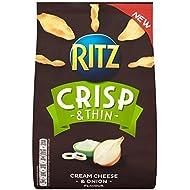 Ritz Fromage À La Crème Croquante Mince && Chips D'Oignons 100G - Paquet de 6