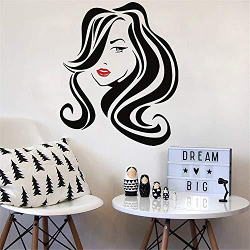 Großes Haar Schönheitssalon Lippen Friseur Frisur Frisur Barbiere Dame Wand Fenster Aufkleber Vinyl Shop Decor 48 * 57 cm (Früchte-wand-aufkleber)