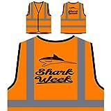 Best Semanas de tiburón - Semana De Tiburones Chaqueta de seguridad naranja personalizado Review