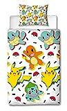 Pokémon Housse de Couette Simple | réversible Deux Face Memphis Parure de lit...