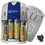Synergy Digital Quick Battery Charger #SB-257, Nikon Coolpix L810 Digital Camera Battery Charger Replacement Of 4 AA And AAA NiMH 2800mAh Rechargeable Batteries, With Charger