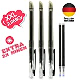 woohoo4u® friction Tintenroller schwarz 3 Stück - 0