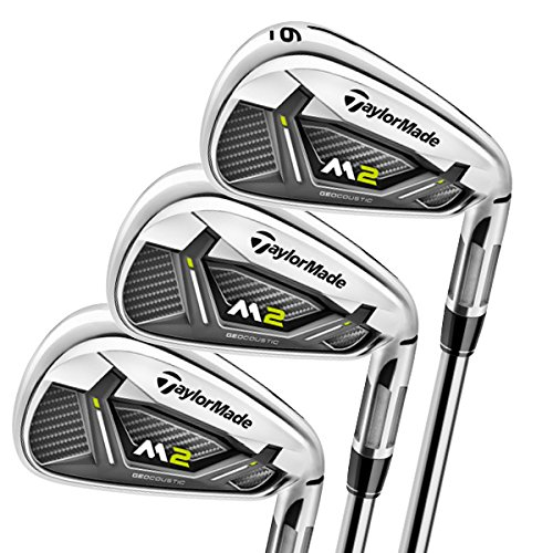 TaylorMade M2 Golf Irons Set of Golf Clubs, Steel, Right Hand, Stiff, 5-PW
