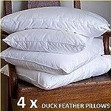 Textile Online * * OFERTA ESPECIAL * * 4x calidad de hotel de almohadas de plumas de pato