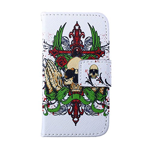 MOONCASE pour Apple iPhone 4 / 4S Case Cuir Housse de Protection Coque en Portefeuille Étui à rabat Case DKS19 DKS18 #1221
