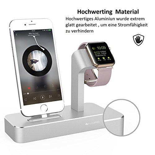 ivapo 2 in 1 ladestation f r apple watch und iphone multifunktionelle halterung f r apple watch. Black Bedroom Furniture Sets. Home Design Ideas