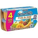Nestlé naturnes compote de fruits du soleil 4 x 130g dès 8 mois - ( Prix Unitaire ) - Envoi Rapide Et Soignée
