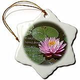 3dRose orn_4930_1 Serenity Prayer Porcelain Snowflake Ornament, 3-Inch