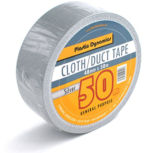 Plastic Dynamics® Duct Tape / Panzertape 48mm x 50m Silver x1 Roll