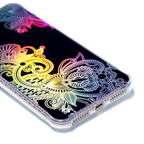iPhone 8 Plus Custodia, iPhone 7 Plus Custodia, iPhone 8 Plus/7 Plus Cover, JAWSEU Bella Luminoso [Shock-Absorption][Anti Scratch] Protectiva Bumper per iPhone 8 Plus/7 Plus Cristallo Chiaro Cover Cas Totem #1