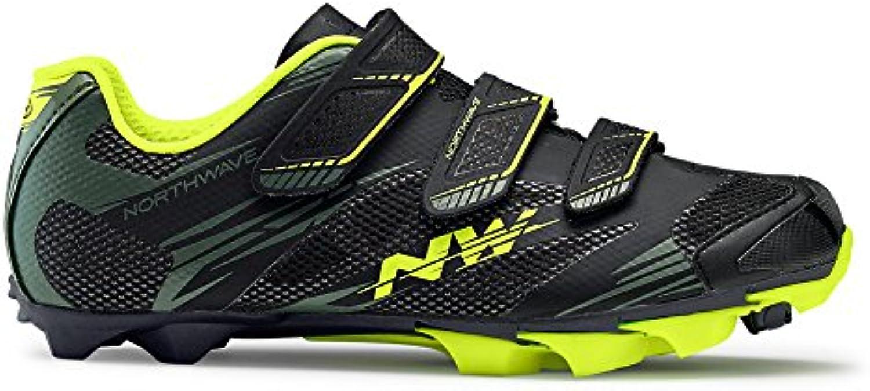 Zapatos de bicicleta de montaña NORTHWAVE SCORPIUS 2 black-Military / Yellow fluo, Tamaño:gr. 45