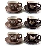 bialetti i colorati espressotassen set mit 6 tassen und. Black Bedroom Furniture Sets. Home Design Ideas