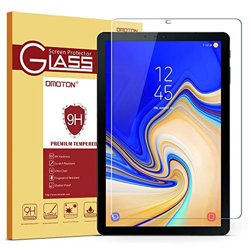 OMOTON Compatibile con Samsung Galaxy Tab S4 10.5 Pellicola Protettiva in Vetro Temperato - Bordi Arrotondati 2.5D - Durezza 9H - Anti-Graffi - Garanzia a Vita