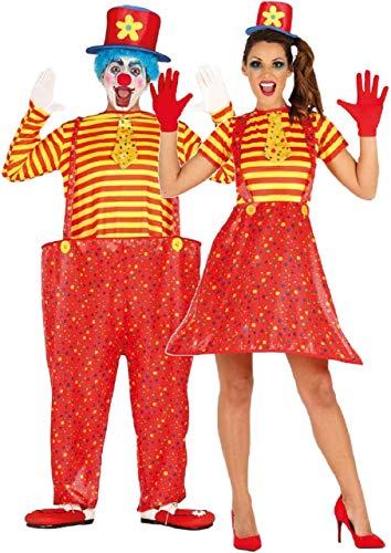 Fancy Me Déguisement de Clown pour Couples, pour Hommes et Femmes