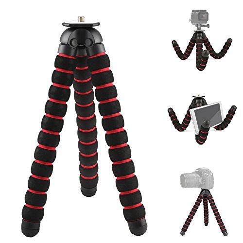 D&F Flexible Stativ Einbeinstativ Schwamm Oktopus Ständer für GoPro 6/5/4/3+/3 SJCAM Action Kamera & Sony Nikon Canon DSLR Kameras & Camcorder - XL