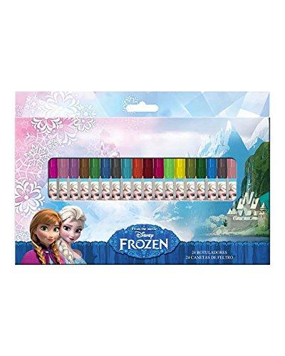 24 Filzstifte Disney Frozen Eiskönigin Malstifte Fasermaler (Halloween Disney Gefrorene)