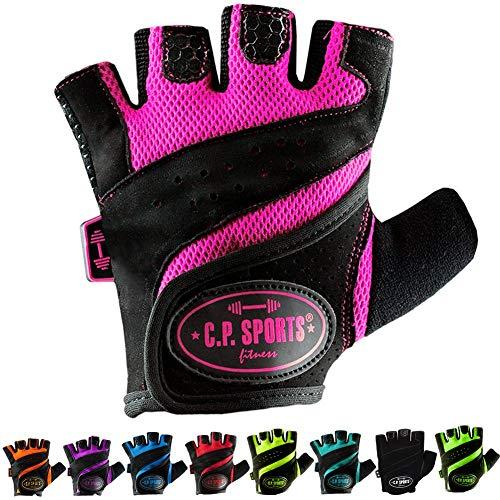C.P.Sports Lady-Gym-Fitnesshandschuh, Damen, Frauen S Pink