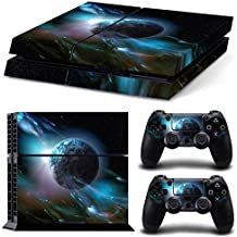 Ps4 Playstation 4 Consola Design Foils Skin Sticker Decal Pegatinas + 2 Controlador Skins Set (Negro Tierra)