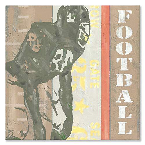 Oopsy Daisy Spiel Ticket Fußball von Roger Groth Leinwand Wand Art, 14von 35,6cm (Kinder-fußball-helm-braun)