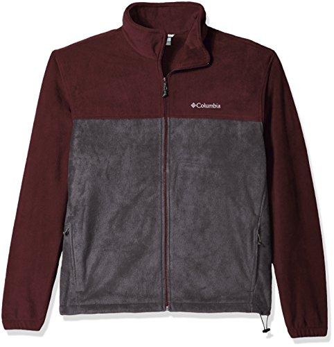 Columbia Men's Big and Tall Cascades Explorer Full Zip Fleece Jacket, Elderberry/Shark, Small