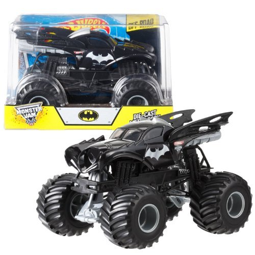 Monster 1 Diecast Jam-trucks 24 (Hot Wheels Year 2014 Monster Jam 1:24 Scale Die Cast Official Monster Truck Series #BGH29 - Racing Champion 2 Time Monster Jam World Finals BATMAN with Monster Tires, Working Suspension and 4 Wheel Steering (Dimension - 7 L x 5-1/2 W x 4-1/2 H) by Monster Jam)