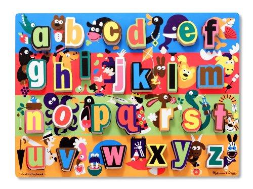 33 - Holzklotz-Puzzle - Englisches Jumbo-Alphabet (Melissa Und Doug Alphabet-puzzle)