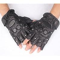 Yeying123 Halbfinger-Handschuhe Leder Taktische Kampfhandschuhe Männer Outdoor-Fitness-Handschuhe (Ein Paar)