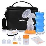 MADENAL Elektrische Komfort-Einzelmilchpumpe + Flaschenset inkl. und Muttermilchbeutel, BPA-frei, Effiziente und ruhiger Milchpumpe Brustpumpe