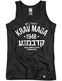 Military Krav Maga Tank Top. Vest. Israel Combat System. Thumbsdown Last Fight. Gladiator Bloodline. Martial Arts. Fightwear. Training. Casual. Gym. MMA T-shirt