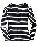Bretonisches Fischerhemd Unisex Klassisch Gestreift Langarmhemd