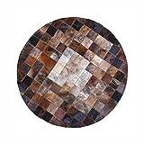 Moolo Tappeti fatti a mano in pelle di vacchetta Patchwork Design Area tappeti Soggiorno camera da letto Decorazione (dimensioni : 150 * 150CM)