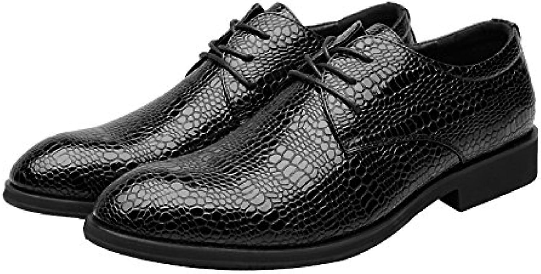 Scarpe da Uomo in Pelle PU Texture in Pelle di Coccodrillo Stringate Superiori | Di Qualità Fine  | Uomo/Donne Scarpa