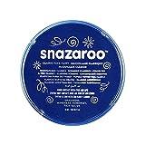 Snazaroo 1118333 Kinderschminke, hautfreundliche hypoallergene Gesichtschminke auf Wasserbasis, wasservermalbar, parabenfrei, dunkelblau, 18 ml Topf