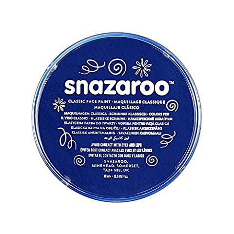 Snazaroo Face and Body Paint, 18 ml - Dark Blue (Individual Colour)