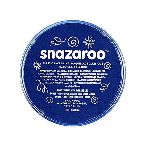 derschminke, hautfreundliche hypoallergene Gesichtschminke auf Wasserbasis, wasservermalbar, parabenfrei, dunkelblau, 18 ml Topf ()