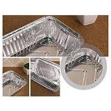 10PCS papier d'aluminium gril gouttes bacs à graisse jetables barbecue, 5.47x 4.33x 1.65 pouces