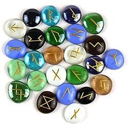 Set de Runas de piedras Multicolor