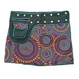 Leucht-Welten Damen Wickelrock Baumwolle Rock mit Tasche sk1 Design 9 Einheitsgröße verstellbar