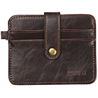 valentoria® Portafoglio Uomo in pelle porta carte di credito portamonete portafogli per crash Money Clip, Brown