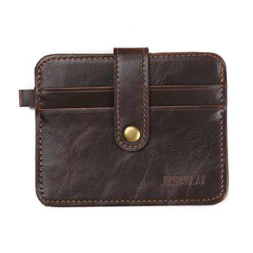 le vendite di primavera 2017 valentoria Portafoglio Uomo in pelle porta carte di credito portamonete portafogli per crash Money Clip, Brown
